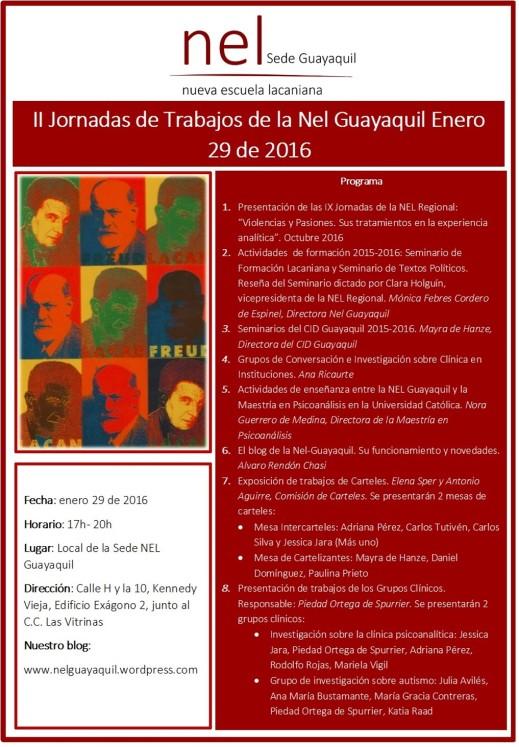 II Jornadas de trabajo Nel Guayaquil 2016